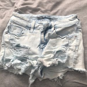 Mossimo Supply Co. Shorts - Ripped jean shorts